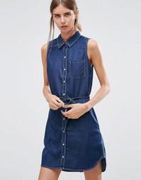 Джинсовое платье‑рубашка Dittos Olivia - Olivia dark enzyme
