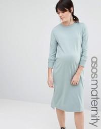 Платье с высокой горловиной для беременных ASOS Maternity