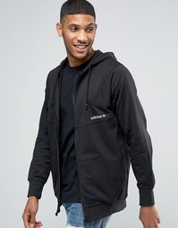 Худи на молнии Adidas - Черный