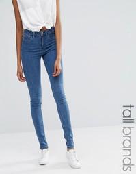 Облегающие джинсы с завышенной талией Noisy May Tall Lexi - Синий