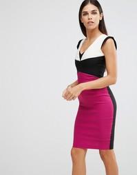 Платье-футляр колор блок Vesper