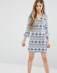 Платье с оборками на рукавах Madam Rage - Синий