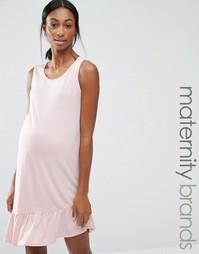 Цельнокройное платье для беременных без рукавов Bluebelle Maternity