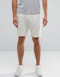 Трикотажные меланжевые шорты Jack and Jones - Белый
