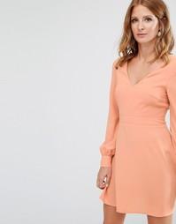 Платье мини с пуговицами Millie Mackintosh - Розовый