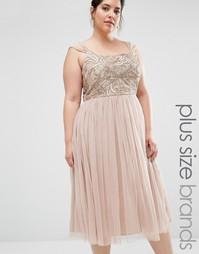 Платье мини с юбкой из тюля и декоративной отделкой Lovedrobe Luxe