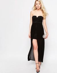 Платье с длинным верхним слоем Jovonna Nico - Черный