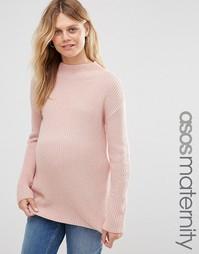 Джемпер с высоким воротом для беременных ASOS Maternity - Blush