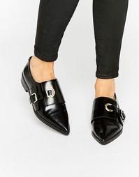 Кожаные туфли на плоской подошве ASOS MADAME - Черный