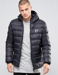 Дутая куртка с капюшоном 11 Degrees - Черный
