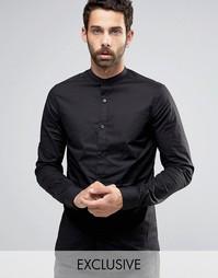 Рубашка суперузкого кроя с воротником на пуговицах Only & Sons