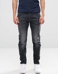 G-Star Arc 3D Slim Jeans in Washed Grey - Темный состаренный