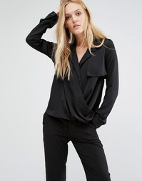 Y.A.S Faber Washed Silk Shirt - Черный