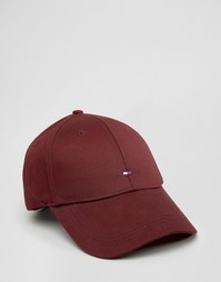 Бордовая бейсболка с логотипом Tommy Hilfiger - Красный