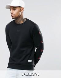 Свитшот с вышивкой Hype - Черный