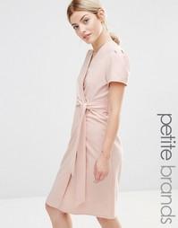 Чайное платье миди с запахом Alter Petite - Blush