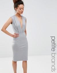 Платье-футляр длины миди с V-образным вырезом Alter Petite