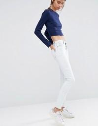 Зауженные джинсы с высокой талией Dittos Kelly - Выбеленный