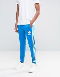 Джоггеры с логотипом-трилистником adidas Originals AY7781 - Синий