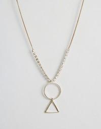 Ожерелье с геометрической подвеской Nylon - Золотой