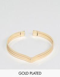 Позолоченный браслет‑манжет Nylon - С золотым покрытием