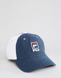 Нейлоновая кепка с контрастными панелями Fila - Темно-синий
