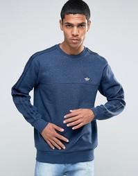 Свитшот с круглым вырезом adidas Originals Trefoil AZ1130 - Синий