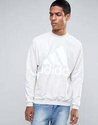 Плотный махровый свитшот с круглым вырезом adidas Originals AX9930