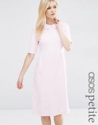 Платье с присборенной юбкой и воротником Питер Пэн ASOS PETITE