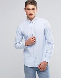 Оксфордская рубашка узкого кроя на пуговицах Esprit - Синий