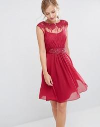 Кружевное платье Coast Lori May - Багровый