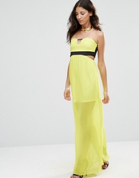 Платье макси без рукавов с вырезом Twin Sister - Лайм