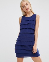 Платье с оборками Madam Rage - Темно-синий