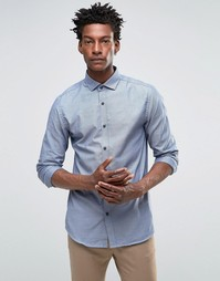 Рубашка слим с длинными рукавами Selected - Синий