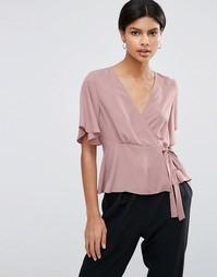 Блузка с запахом спереди ASOS - Сиреневый