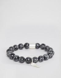 Браслет с камнями и металлическими деталями Chained & Able - Черный