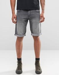Черные выбеленные джинсовые шорты Celio - Черный