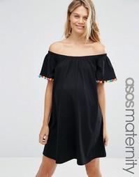 Платье мини для беременных ASOS Maternity - Черный