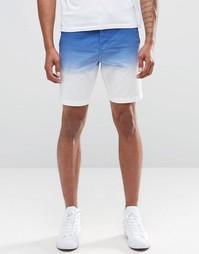 Хлопковые шорты слим с эффектом деграде Celio - Indigo - индиго