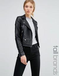 Байкерская куртка из искусственной кожи Vero Moda Tall - Черный