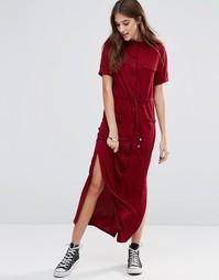 Трикотажное платье-рубашка миди с завязкой на талии Daisy Street