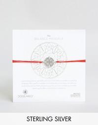 Красный шелковый браслет с серебряной мандалой Dogeared Balance