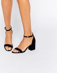 Сандалии на расклешенном каблуке Carvela Loop - Черная ткань под замшу