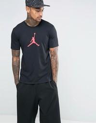 Черная футболка Nike Jordan Jumpan 801051-010 - Черный