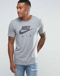 Серая футболка с принтом Nike Air 805220-091 - Серый