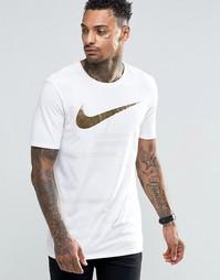 Футболка с золотистым принтом Nike 835759-100 - Белый