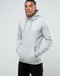 Серое худи Nike Club 812519-063 - Серый