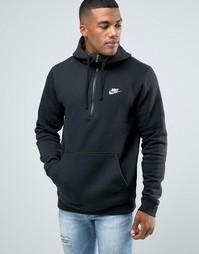 Черное худи Nike Club 812519-010 - Черный
