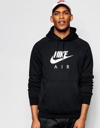 Худи с крупным логотипом Nike 810806-010 - Черный