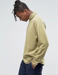 Трикотажный свитер с отворачивающимся воротником ADPT - Сушеные травы